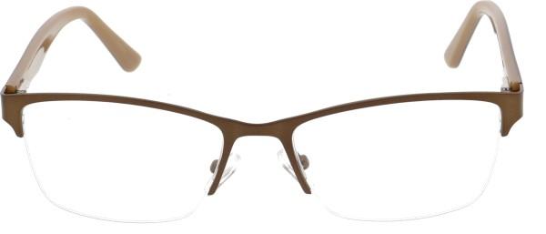 Sunoptic Unisex Halbrandbrille Metall braun 617E