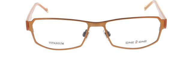 One 2 One Damenbrille orange Metall Kunststoff 109