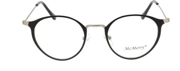 Mc Merry Panto Unisex Brille schwarz silber