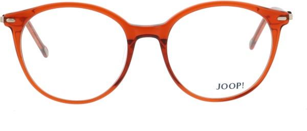 JOOP Damen Kunststoffbrille rot rund 82072