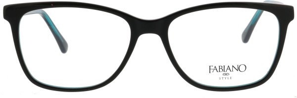 klassische Fabiano Damen Kunststoffbrille schwarz türkis 127