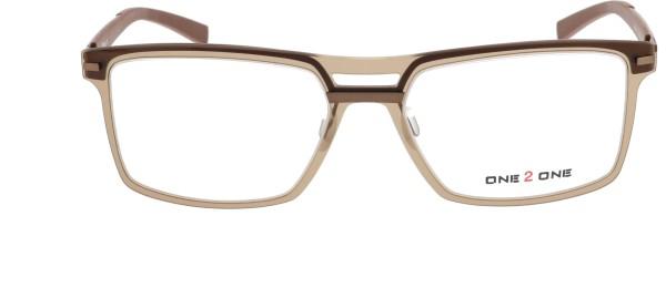 One 2 One Herrenbrille transparent braun 139-C1